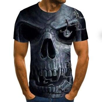 Men's T-shirt Summer Fashion New 3D Skull T Shirt Funny Men Short sleeve T shirts Punk Gothic 3D T-shirt Men Clothing Slim Tee funny new holland t shirt mens slim tee shirt printed t shirtcotton t shirt 010854