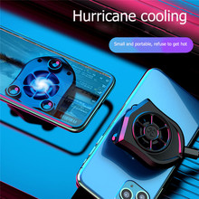 Mobile Phone Cooler Radiator Portable Suction Cup Cooling Fan Gaming Universal Phone Heat Sink For iPhone Samsung Huawei Xiaomi
