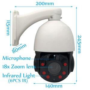 Image 2 - 외부 자동 추적 거리 PTZ IP 카메라 돔 18 배 광학 줌 인간 사람들 자동 추적 마이크 스피커 오디오