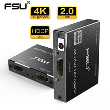 Fsu 2.0 hdr 4k @ 60 hdmi divisor completo hd vídeo hdmi switch switcher 1x2 dividir 1 em 2 fora amplificador de exibição dupla para hdtv dvd ps3