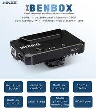 Inkee benbox sem fio 2.4g/5g 1080p mini dispositivo de transmissão imagem vídeo transmissor para dslr/iphone/ipad/android telefone