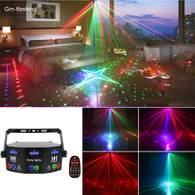 Indoor Home DJ Disco Stage Lights for Holiday Birthday Christmas Party Bar KTV Effect Laser Light Projector Lamp decor Bedroom