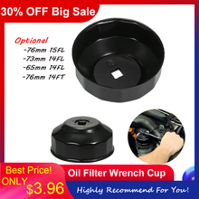 Universal 76mm x 15 73mm x 114 65mm x 14 76mm x 14 Flutes Oil Filter Wrench Cup Socket Type Cap Remover Tool