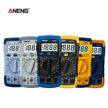 A830L LCD Digital Multimeter Electric Ammeter Voltmeter Tester Meter Handheld DC AC Voltage Diode Freguency Multimetro uni t lcd ut61c ut 61c handheld modern digital multimeter ac dc meter