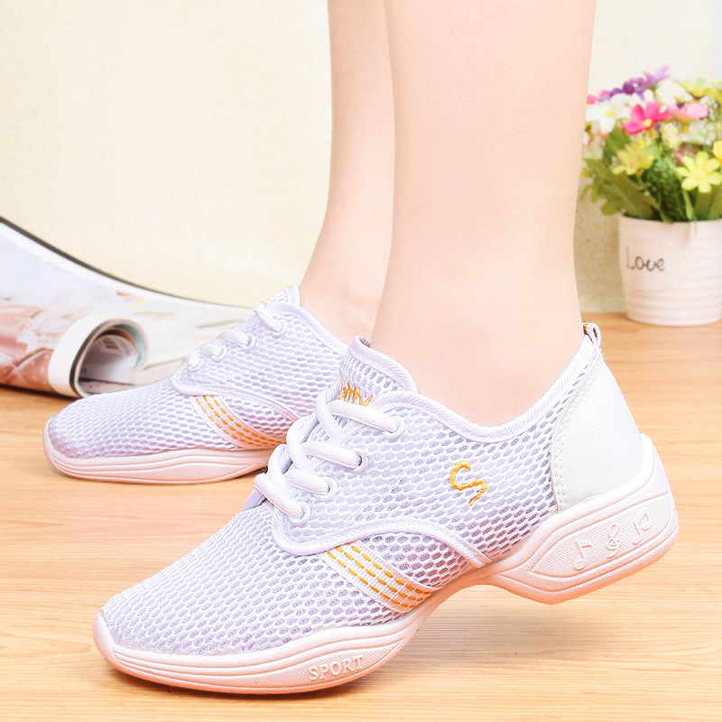Summer Breathable Soft Dance Shoes Women Lightweight Outdoor Training Casual Sneakers Ladies Sports Modern Jazz Practice Shoes