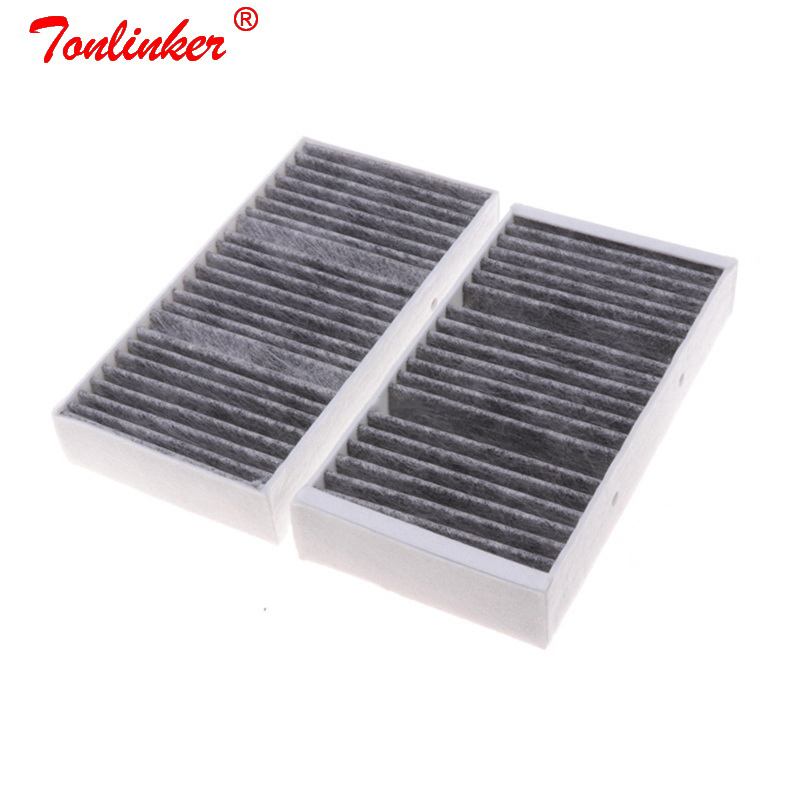 Cabin Filter A1668300318 2 Pcs For Mercedes GLE-CLASS W166/ GLE Coupe C292/GLS X166/ 2015-2019 Model Car Built in Carbon Fiilter