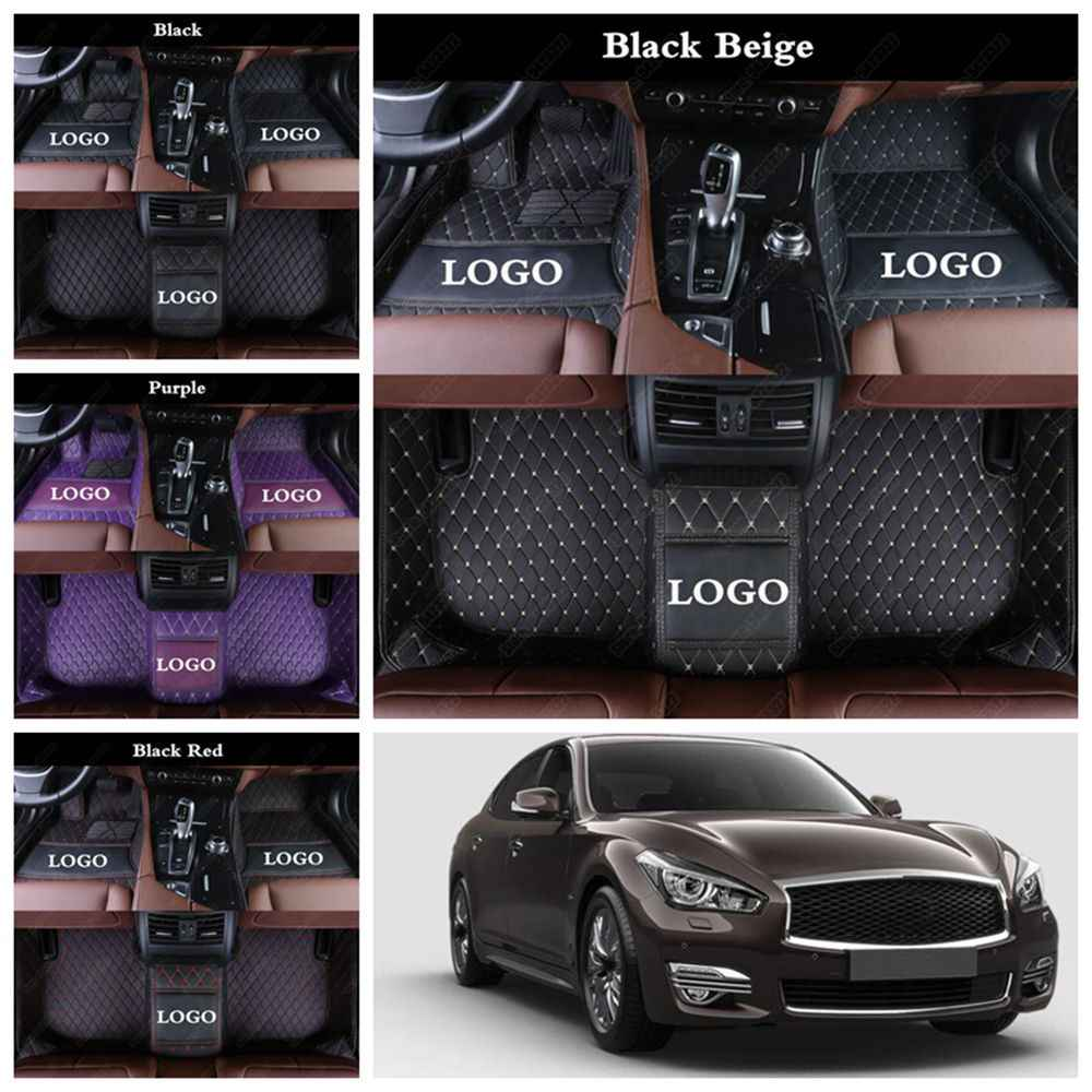 Кожаные автомобильные коврики для INFINITI Q50 Q50L Q60 Q70L M35 G37 G25 QX30 QX50 QX56 QX60 QX70 QX80 эсквайр