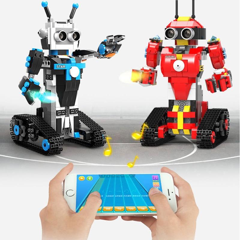 DIY Robot puzzle Toys Remote Control 2.4G RC Robot Interactive Educational Block