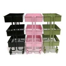 Mini wózek podłogowy regał magazynowy z kółkami domek dla lalek miniaturowe meble półka regał stojak do przechowywania i ekspozycji udekoruj Ju15 21