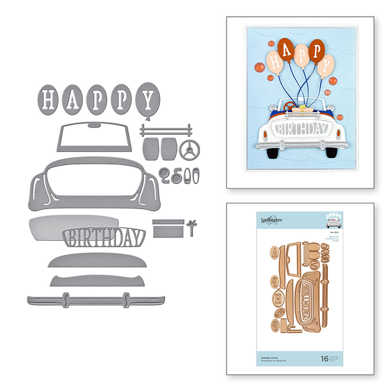 2020 Hot New Die Cuts Car Balloon HAPPY Alphabet Word Metal Cutting Dies Foil And Crafts Scrapbooking For Card Making No Stamps