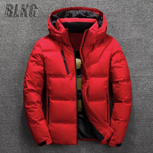 Winter Down Coat Men White Duck Down Parkas Jacket Men's Thick Warm Snow Parka Jacket Overcoat Windbreaker Hooded Warm Parkas