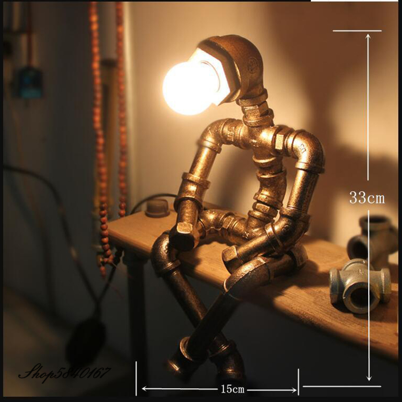 Купить промышленный робот настольная лампа в стиле ретро водопровод