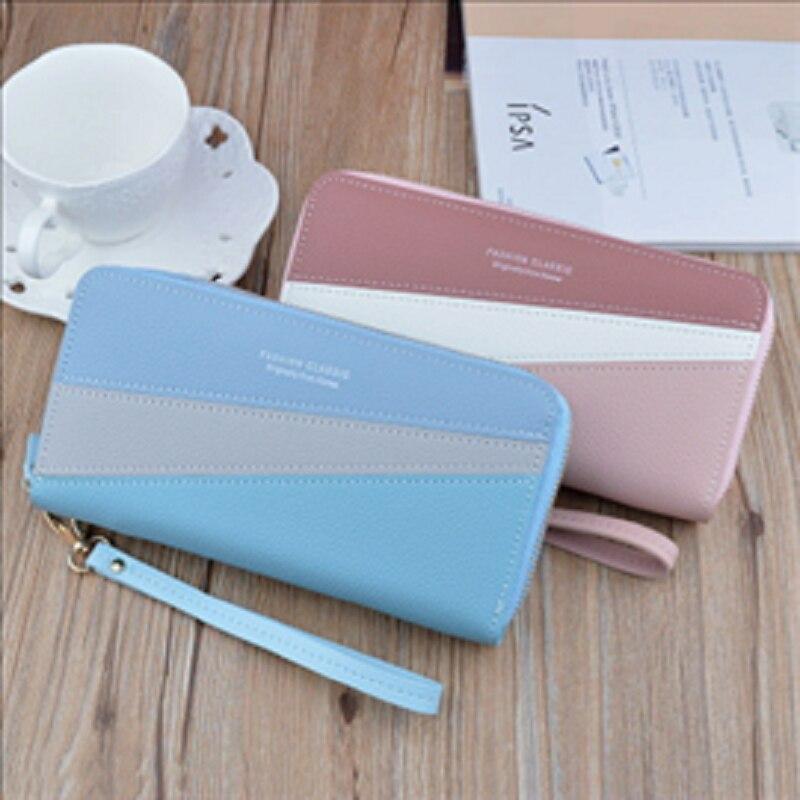 Double zipper hand wallet 2020 new women's wallet long fashion large capacity double wallet mobile bag