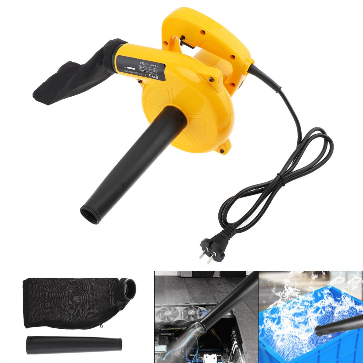 220V 600W 13000rpm Multifunctional Portable Electric Blower Dust Collector Set Suction Head 1.2L Collecting Bag for Removing Dus
