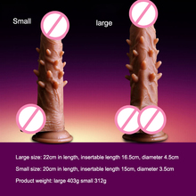 Electric Swing Vibrators Realistic Spines Penis Barb Dildo With Suction Cup 12 Vibrations Vibrator Sex Toys For Women