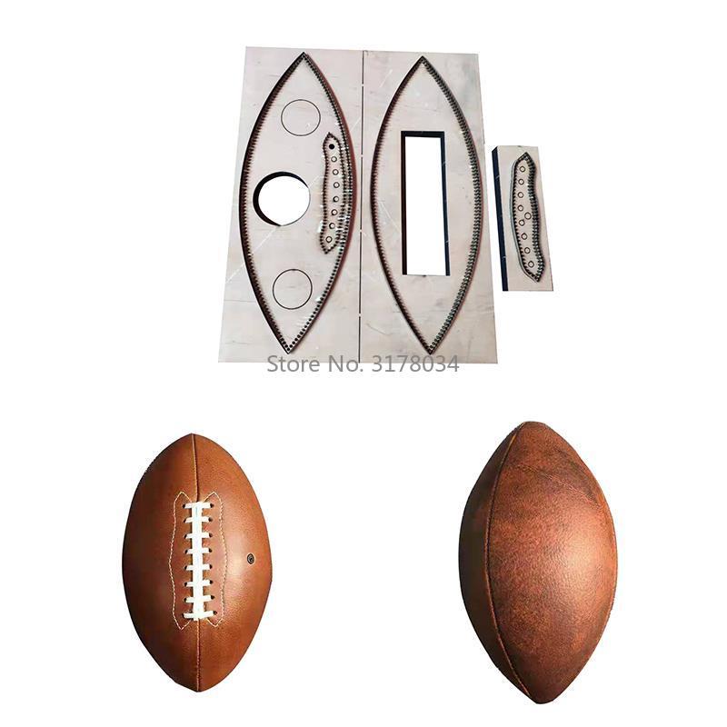 4 pièces/ensemble en cuir découpé pour bricolage fait à la main en cuir artisanat numéro 9 Football métal coupe Dies évidé perforateur modèle