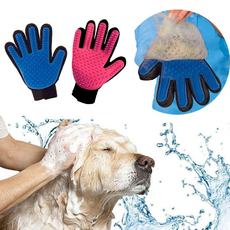 Guante para gato pies rękawica do pielęgnacji produkty dla zwierzaka domowego mascotas kot Deshedding włosów usuń czyszczenie szczeniak masaż dla psa gatos perros