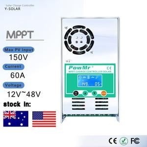 Image 1 - PowMr MPPT 60A 50A 40A 30A LCD Solar Charge Controller 12V 24V 36V 48V Auto Solar Panel Battery Charge Regulator for Max 190V