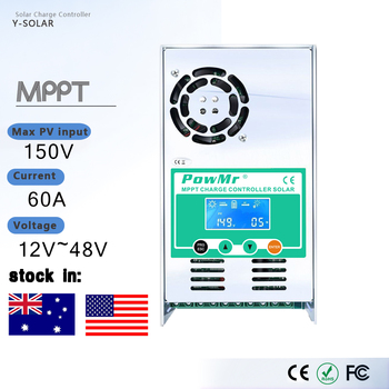 PowMr MPPT 60A 50A 40A 30A LCD Solar Charge Controller 12V 24V 36V 48V Auto Solar Panel Battery Charge Regulator for Max 190V цена 2017