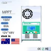 PowMr MPPT 60A 50A 40A 30A LCD contrôleur de Charge solaire 12V 24V 36V 48V Auto panneau solaire régulateur de Charge de batterie pour Max 190V