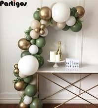 84 шт авокадо зеленый шар гирлянда арочный комплект Хром золотой