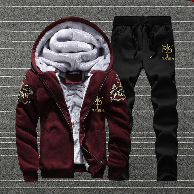 Hooded Tracksuit Men Sets 2020 Winter Autumn Men's Hoodies Pants Fashion Jogger Sportswear Male Slim Outwear Roupas Masculina