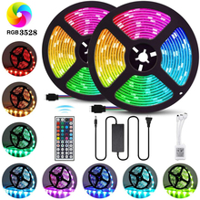 DCOO LED Strip Lights 10M SMD 3528 RGB Rope Lights Color Changing Flexible Tape Light Kit with 24/44 Keys IR Remote Controller