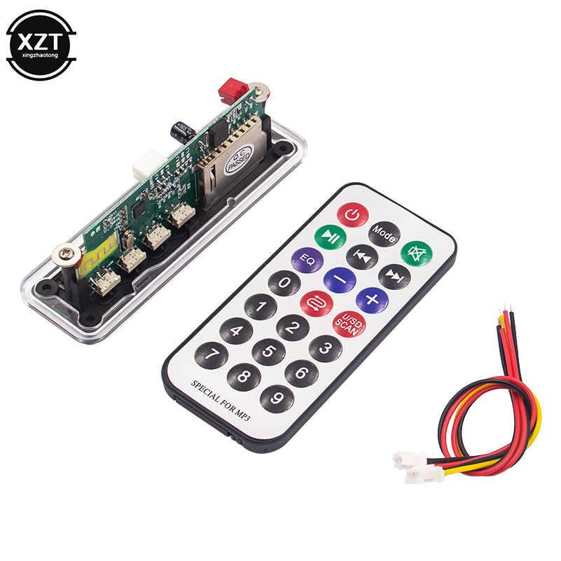 12 v automóvel carro bluetooth 5.0 mp3 player wma/flac/ape usb/sd/fm/aux placa decodificador módulo de áudio para carro mp3 alto-falante
