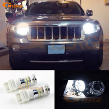 цена на For JEEP COMPASS 2011 2012 2013 2014 2015 HID headlight Excellent Ultra bright White Reflector 3157 LED Daytime DRL Light