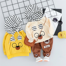 2019 New 2019 Autumn Toddler Infant Clothing Sets Baby Girls Boys Clothes Suits T Shirt Pants Kids Children Vacation Costume 2017 new autumn baby girls boys minion suits infant newborn clothes sets kids coat t shirt pants 3 pcs sets children suits