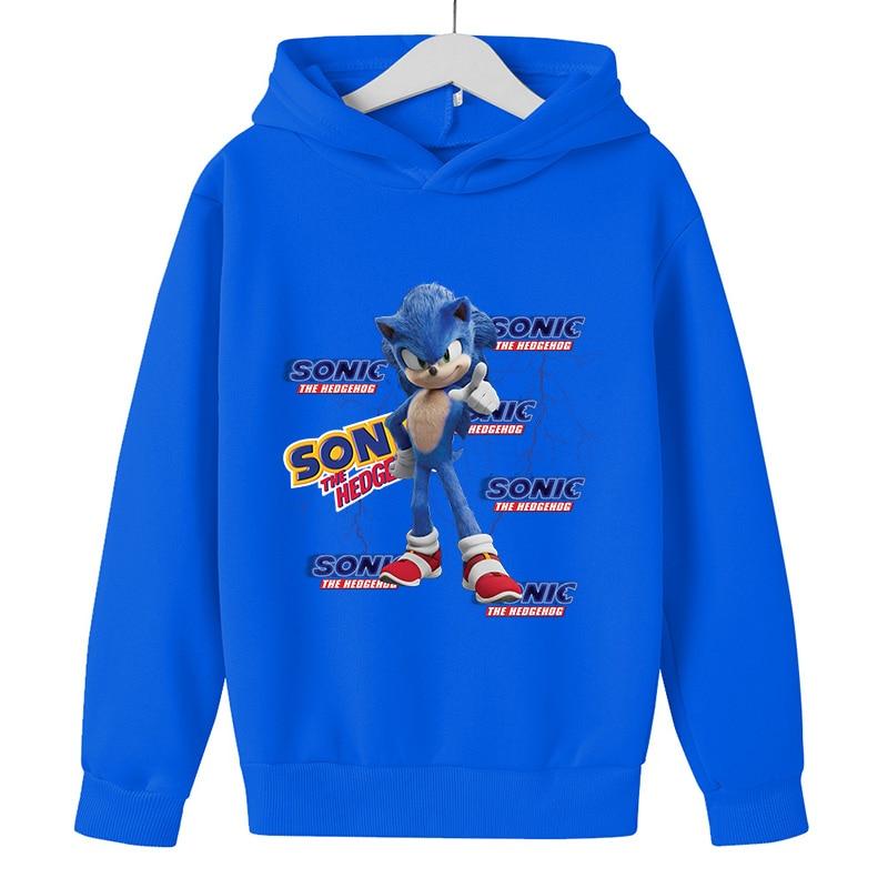 Baby Pullover 5 To 14 Year Kids Hoodies Sonic The Hedgehog Print Sweatshirt Boys Girls Harajuku Long Sleeve Teen Clothes winter 4