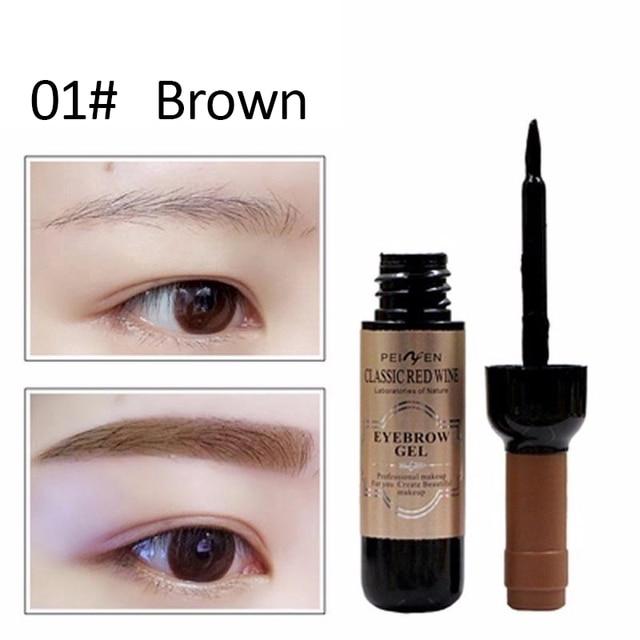 Classic  Eyebrow Gel Cream  Red Wine Tearing Eyebrow Gel Dyeing Eyebrow Cream Waterproof Anti-staining Lasting Makeup Enhancer 2