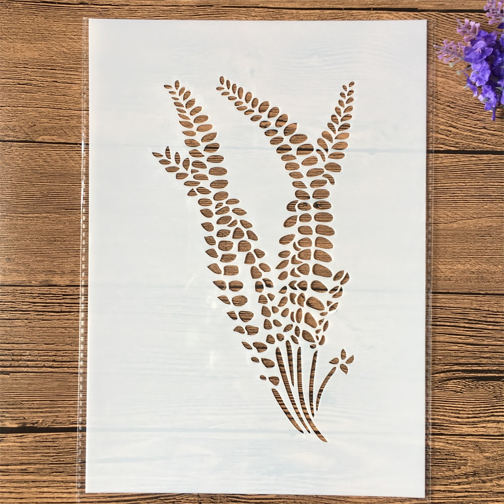 1Pcs A4 Fern Plants DIY Layering Stencils Wall Painting Scrapbook Coloring Embossing Album Decorative Template