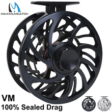 цена на Maximumcatch VM Saltwater sealed drag 100% Waterproof Fly Reel Multi-Disc T6061 aluminium Fly Fishing Reel