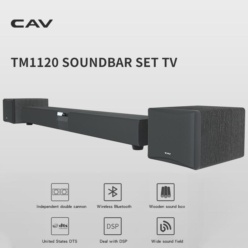 CAV TM1120 Soundbar Set TV Audio Home Theater Sound System 3.1 Subwoofer Speaker DTS Surround Sound Wireless Bluetooth Speaker