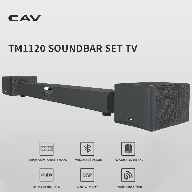 Cav-tm1120 soundbar conjunto tv áudio sistema de som de cinema em casa 3.1 subwoofer alto-falante dts surround som sem fio bluetooth alto-falante