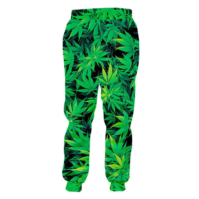 Fashion Weeds Pants Unisex 3D Smoking Leaf Print Casual Loose Trousers Streetwear Hip Hop Active Sports Joggers Sweatpants S-4XL 2