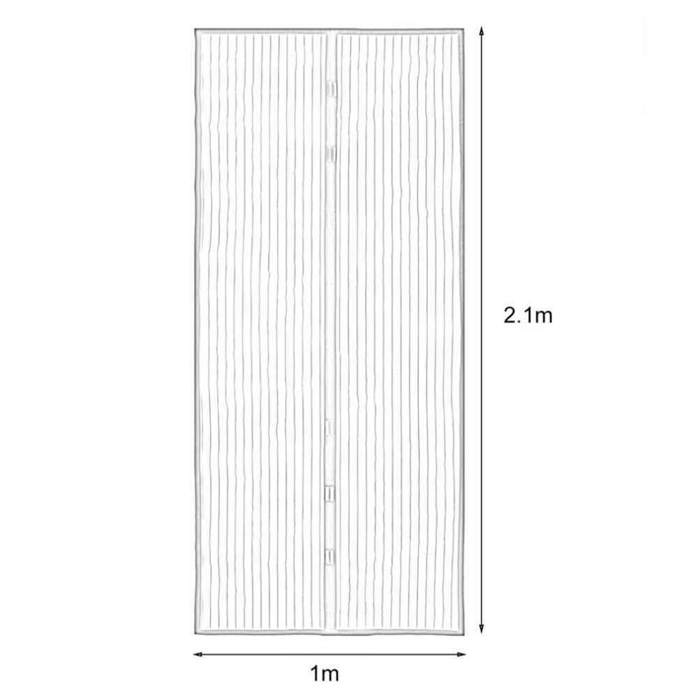 2018 夏抗蚊昆虫フライバグカーテン磁気メッシュネット自動閉鎖ドア画面キッチンのカーテン