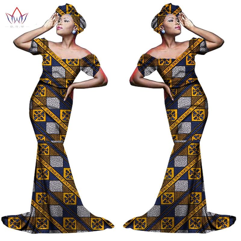 Африканский хлопчатобумажный материал Платья Для Женщин Дашики традиционная Анкара Мода Африка одежда с коротким рукавом Анкара платья WY963 - Цвет: 4