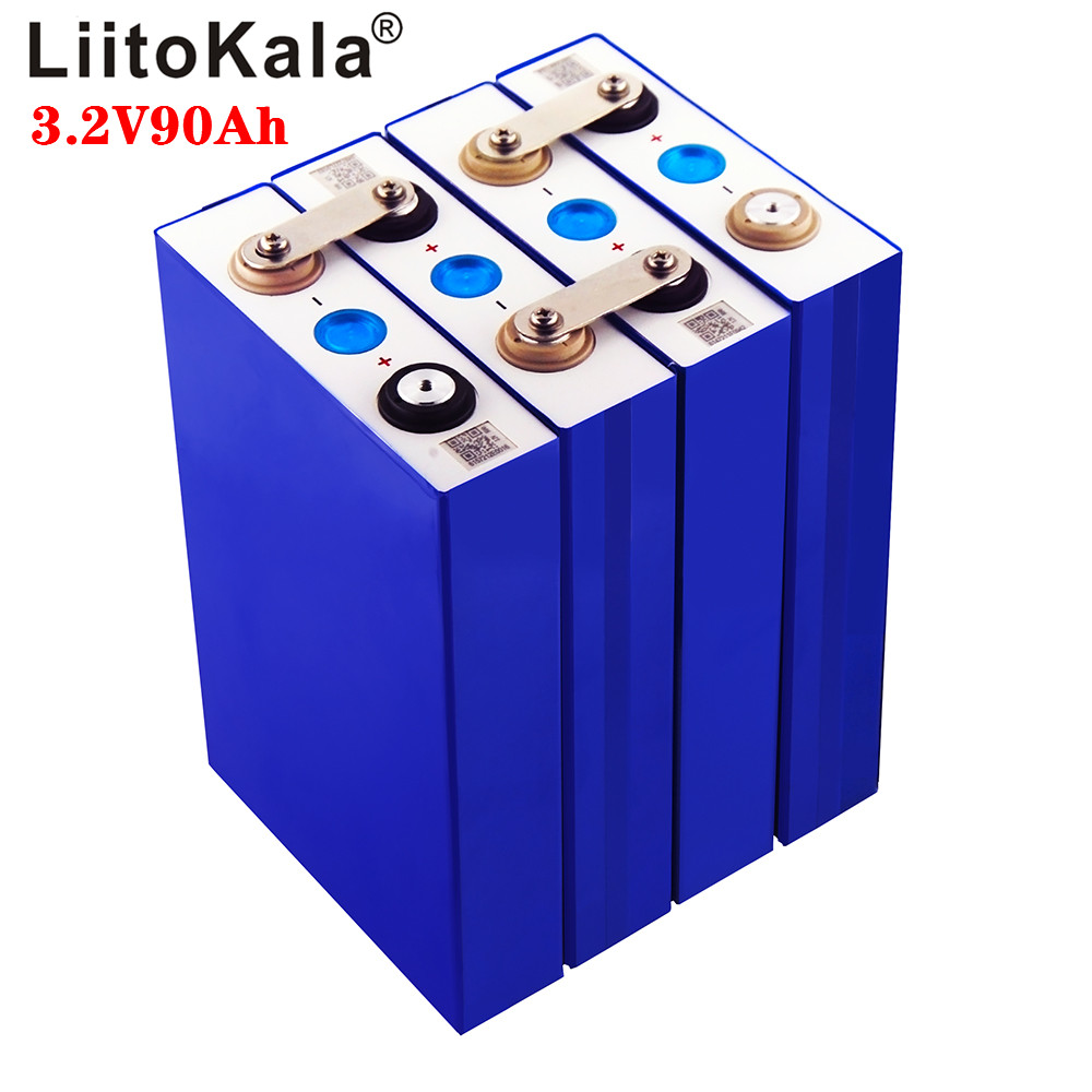 LiitoKala 3.2v 90Ah LifePo4 Battery Lithium 270A 3C High Drain For Diy 12V 24V Solar Inverter Electric Vehicle Coach Golf Cart