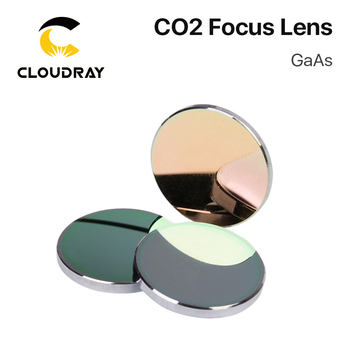 Cloudray GaAs Focus Lens Dia. 19.05 / 20mm FL 50.8 63.5 101.6mm 1.5-4 High Quality for CO2 Laser Engraving Cutting Machine fireray co2 laser head set kit 1pcs dia 20mm znse focus lens 3pcs dia 25m mo si mirror 25mm for laser engraving cutting machine