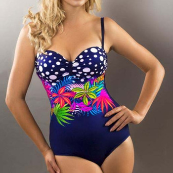 Sexy One-piece Large Size Swimwear With Push Up Women Plus Size Swimsuit Closed Body Female Bathing Suit For Pool Beach Wear 6