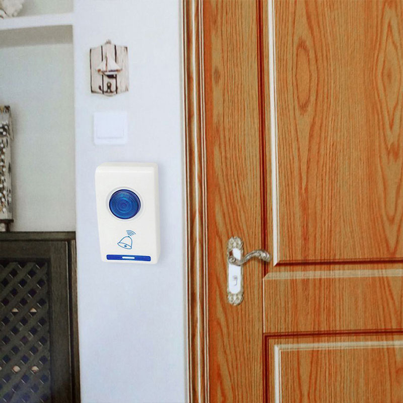 Portable Wireless Digital Doorbell LED No Battery 32 Tune Songs Intelligent Music Doorbell Indoor Office Apartment