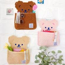 Милый медведь milkjoy подвесная сумка для хранения на стену