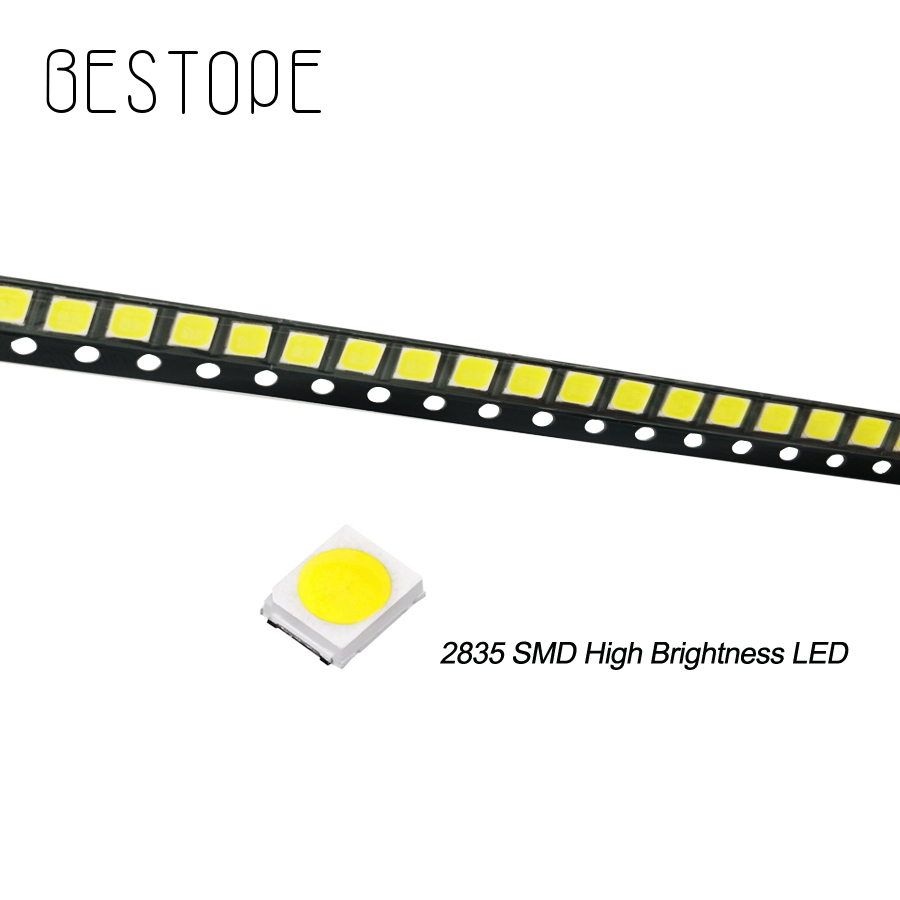 200PCS 500pcs 2835 SMD Ultra Bright Warm White Chip 0.5 W 3.0-3.6V 150mA 45-50LM Bright Lamp Beads White Light Emitting Diode