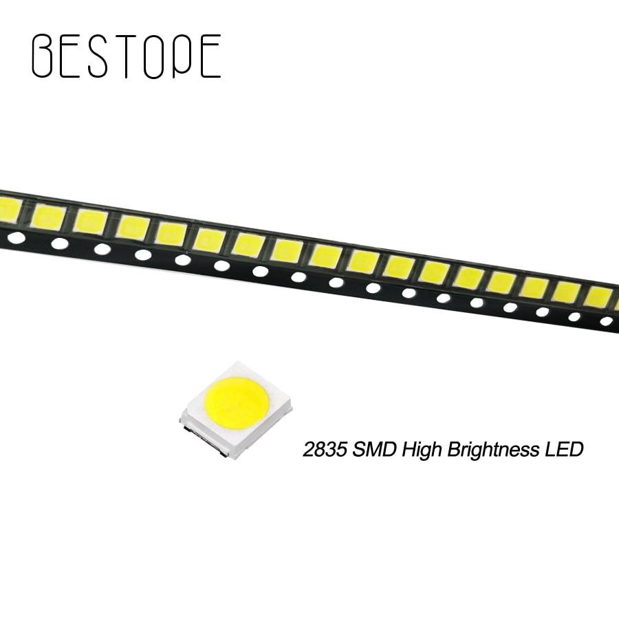 200PCS 500pcs 2835 SMD Ultra Bright Warm White Chip 0.5 W 3.0-3.6V 150mA 45-50LM Bright Lamp Beads White Light Emitting Diode