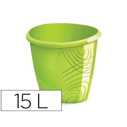 BIN PLASTICO CEP GREEN COLOR CAPACITY 15 LITER