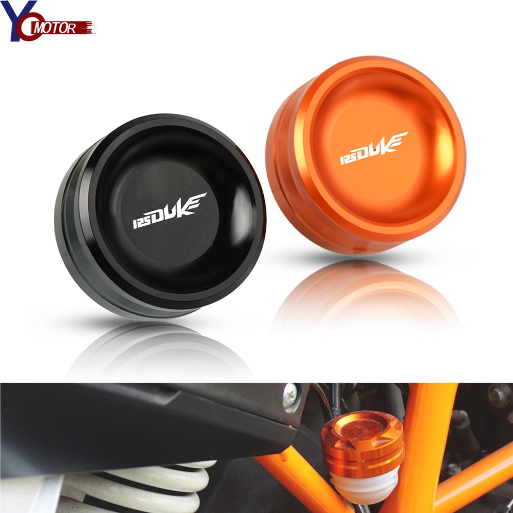 Motorcycle Accessories CNC Aluminum Rear Brake Fluid Reservoir Cap Oil Cup For KTM DUKE 125 125DUKE 2017 2018 2019 all year image