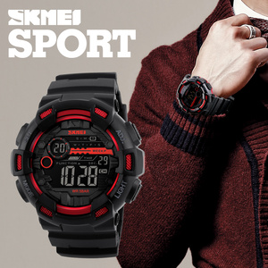 Image 3 - SKMEI Japan Digital movement Men Sport Watches LED Display Male Wristwatch 50m Waterproof Stopwatch Clock Relogio Masculino 1243