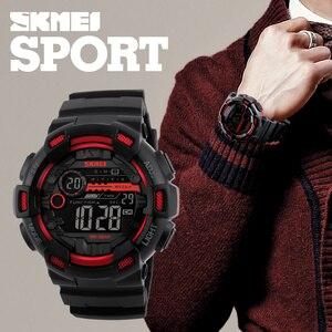 Image 3 - SKMEIดิจิตอลผู้ชายกีฬานาฬิกาLEDนาฬิกาข้อมือชายนาฬิกาจับเวลากันน้ำ 50 เมตรนาฬิกาRelogio Masculino 1243